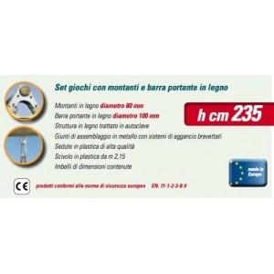 NEW PLAST ALTALENA LEGNO 2 POSTI + CAVALLUCCIO NINFEA H. 235 CM